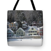 Wintery Alton Bay Nh Tote Bag