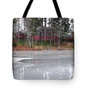 Wintery Reflection Tote Bag by Frozen in Time Fine Art Photography