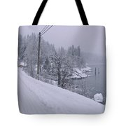 Wintery Road Tote Bag