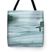 Wintry Riverside Tote Bag
