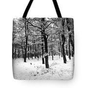 Wintry Woods Tote Bag