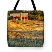 Wisconsin - Country Morning Tote Bag