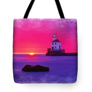 Wisconsin Point Lighthouse Tote Bag