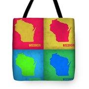 Wisconsin Pop Art Map 1 Tote Bag