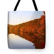 Wisconsin River Sunrise Tote Bag
