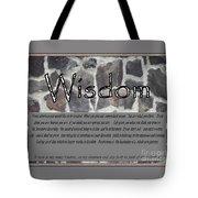 Wisdom In Stone Inspirational Tote Bag