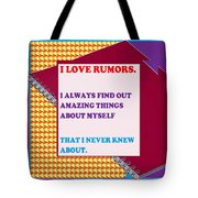 Wisdom Quote Rumors Artistic  Background Designs  And Color Tones N Color Shades Available For Downl Tote Bag