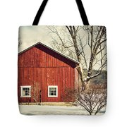 Wise Old Barn Winter Time Tote Bag