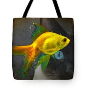 Wishful Thinking - Cat And Fish Art By Sharon Cummings Tote Bag