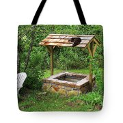 Wishing Well And Cat Tote Bag