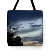 Wispy Clouds One December's Eve Tote Bag