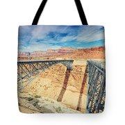 Wispy Clouds Over Navajo Bridge North Rim Grand Canyon Colorado River Tote Bag
