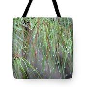 Wispy Winter Raindrops Tote Bag