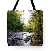 Wissahickon Creek Near Bells Mill Tote Bag