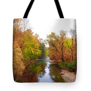 Wissahickon Creek Near Chestnut Hill College In Autumn Tote Bag