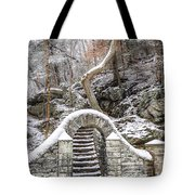 Wissahickon Steps In The Snow Tote Bag