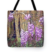 Wisteria And Old Fence Tote Bag