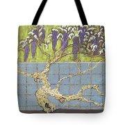 Wisteria Tote Bag by Don Perino