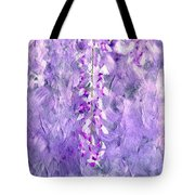 Wisteria Grunge Abstract Tote Bag