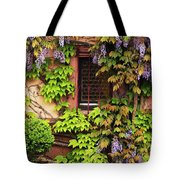Wisteria On A Home In Zellenberg France 3 Tote Bag
