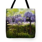 Wisteria Trellis Tote Bag by Jessica Jenney
