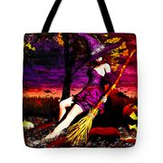 Witch In The Pumpkin Patch Tote Bag