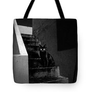 Witch's Cat In Moonlight... Tote Bag
