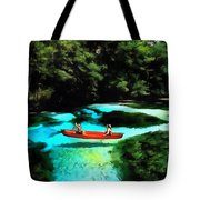 With A Paddle Tote Bag