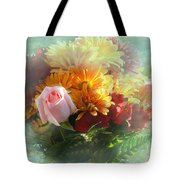With Love Flower Bouquet Tote Bag