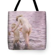 With Mother Tote Bag by Anders Leonard Zorn