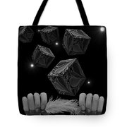 With The Lightest Touch Bw Tote Bag