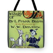 Wizard Of Oz Book Cover  1900 Tote Bag