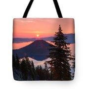 Wizzard Island Sunrise 4 Tote Bag