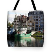 Wladyslawowo And Gdynia In Gdansk Harbor Tote Bag