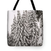 Wnter Snow At Shaver Lake Tote Bag