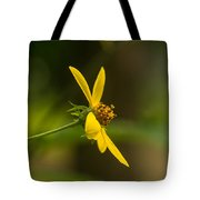 Wodland Flower With Curlicue On Top Tote Bag