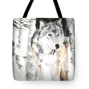 Wolf In Snow Tote Bag