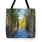 Wolf Creek Flowing Downstream  Tote Bag