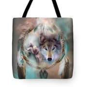 Wolf - Dreams Of Peace Tote Bag