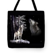 Wolf  Howling Memory Tote Bag