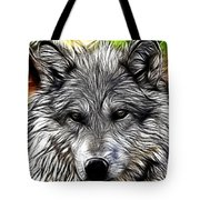 Wolf Line Art  Tote Bag