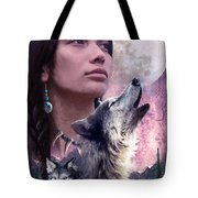 Wolf Montage Tote Bag by Garry Walton