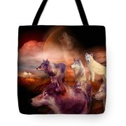 Wolf Mountain Tote Bag