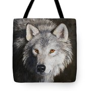 Wolf Portrait Tote Bag by Crista Forest