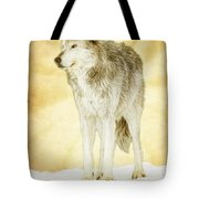 Wolf Shine Tote Bag