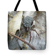 Wolf Spider And Spiderlings Tote Bag