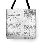 Wolfe Journal, 1759 Tote Bag