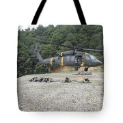Wolfhounds Air Assault From A Uh-60 Tote Bag