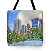 Wollman Rink In Central Park Tote Bag