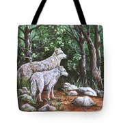 Wolves In South Dakota Tote Bag